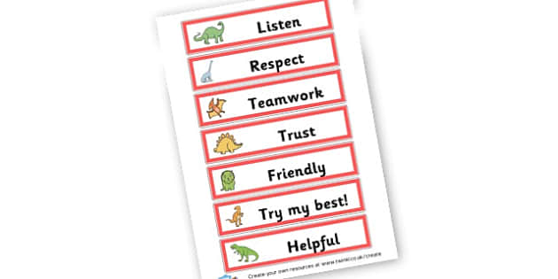 Class Charter - Dinosaurs - Dinosaurs Display Primary Resources, t-rex, dino,  poster,