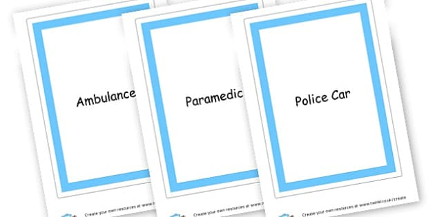 People Who Help Us Flas Cards - People Who Help Us Primary Resources, emergency service, role play