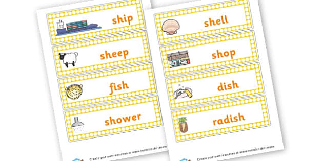 Sh Words Cards - Phoneme Games SH Sound Primary Resources - Speech Language Therap