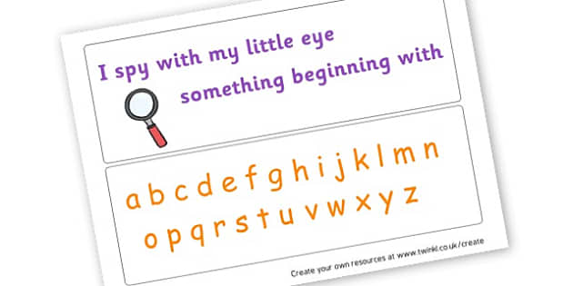 I spy alphabet mat - display lettering - Alphabet Activities and Games Primary Resources English, Literacy, Letters