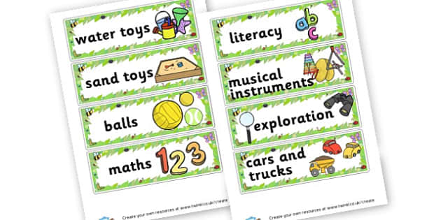 Outdoor Labels - Outdoor Area Primary Resources, outdoors, PE, signs, visual aids