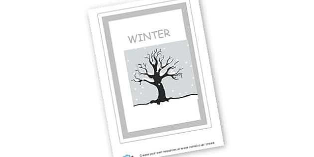 Winter Sign - Winter Display Primary Resources, winter, snow, snowman, education