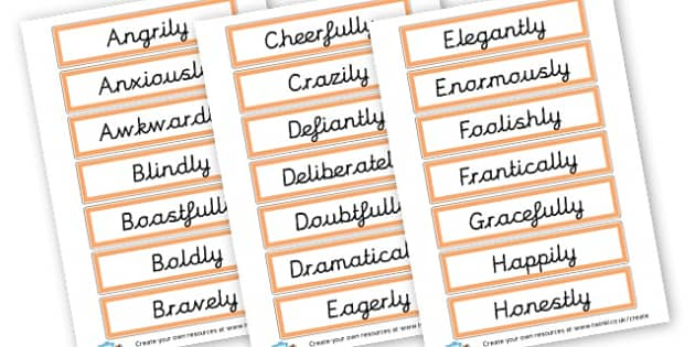 Adverbs Cards - KS2 Verbs and Adverbs Primary Resources, Verbs, Adverbs, KS2 Words