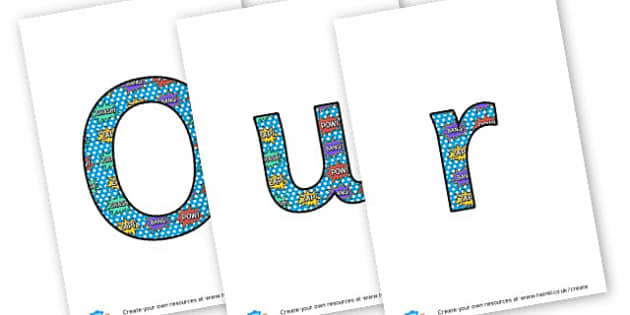 Wow Writing - display lettering - Wow Words & Adjectives Primary Resources, cll, wow, keywords