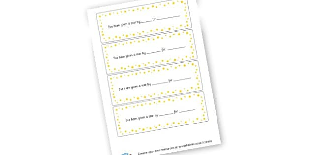 Parent Star Reward Slips - Behaviour Management, Resource, Home School, How to Discipline
