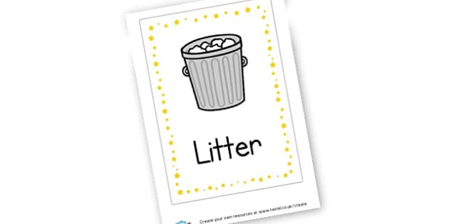Litter Poster - Classroom Signs & Label Primary Resources, labels, posters, rules