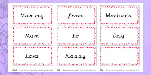 Mother's Day keywords - Mother's Day Literacy Primary Resources, Mother, day