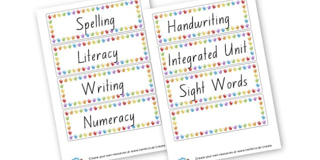 Class Signs - Classroom Signs & Label Primary Resources, labels, posters, rules
