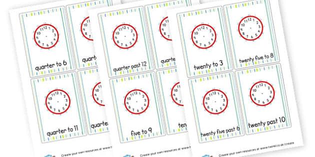 Time Loop Cards - KS2 Time Worksheets Primary Resources, Time Worksheets, Clock, KS2