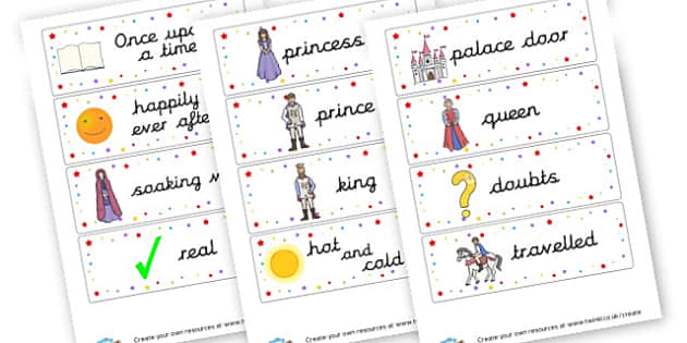 The Princess and the Pea - display lettering - The Princess and the Pea Primary Resources, Hans Christian Andersen
