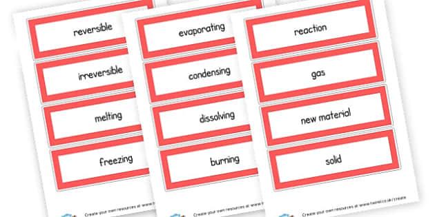 Science Vocab Cards