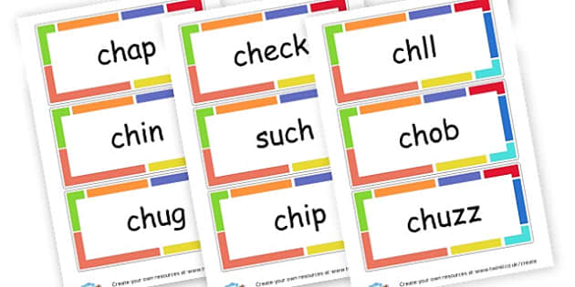 ch words - Initial Blends Primary Resources, initial letter, letter blend