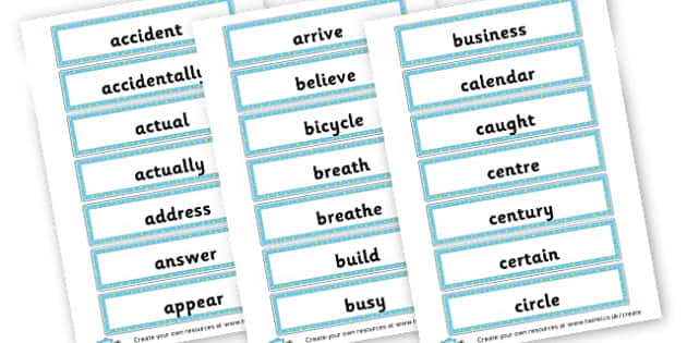 Year 3/4 Spellings Cards - KS2 Spelling Primary Resources, Spelling, KS2 Spelling, KS2