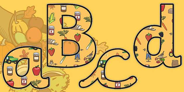 Harvest Display Lettering - autumn, seasons, display, letters