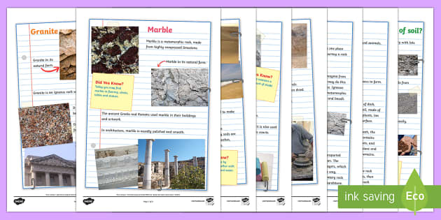 Rocks and soils fact pages rocks stone rocks and soils for Soil facts ks2