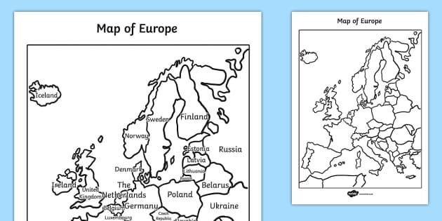 Map Of Europe Ks2 – Europe Map Worksheet