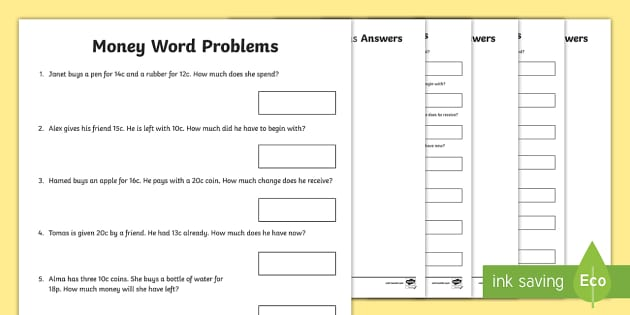 south africa money word problems activity sheet south africa. Black Bedroom Furniture Sets. Home Design Ideas