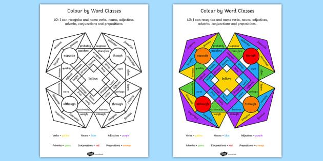 Colour By Number Esl : Day worksheets
