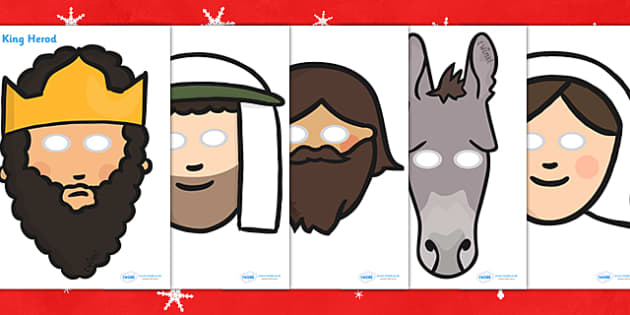 Nativity Themed Role Play Masks - nativity, role play, masks