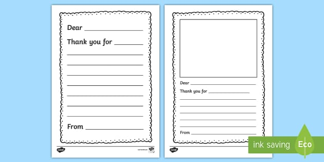Thank You Letter Writing Template  Thank You Letter Writing