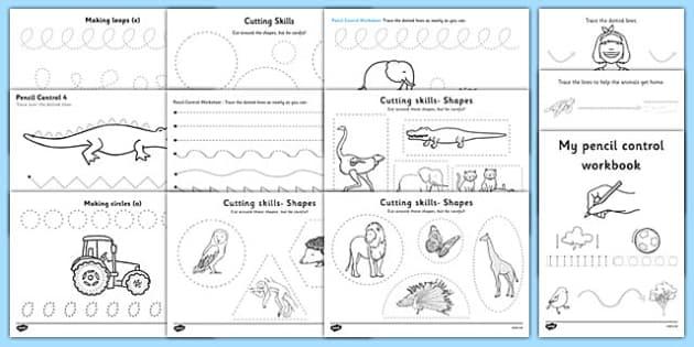 Pencil Control And Scissor Skills Resource Pack Fine Motor