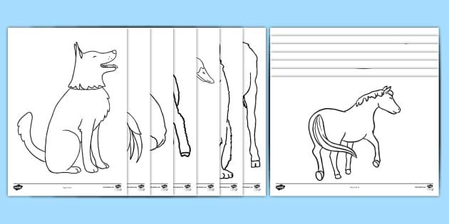 farm animal colouring sheets black white a4 education. Black Bedroom Furniture Sets. Home Design Ideas