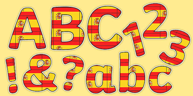 Spanish Display Lettering Flags - spanish, display, lettering