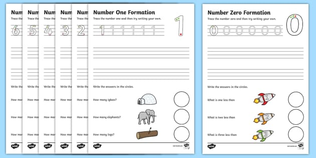 number formation worksheets 0 9 handwriting number. Black Bedroom Furniture Sets. Home Design Ideas