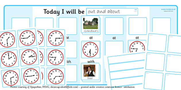 Routine Chart Pack With Place Time And Person Editable - routines