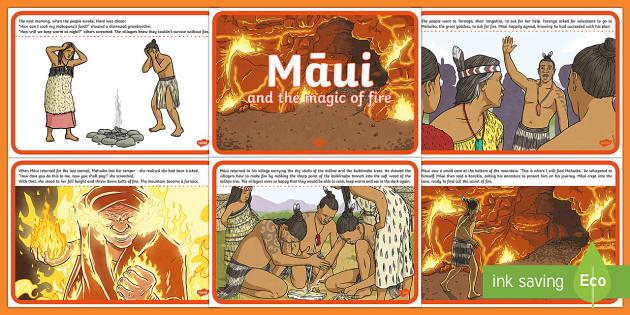 Māui and the Magic of Fire  Story - Maui Myths Maori legends