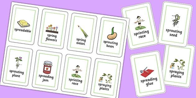 Three Syllable SPR Flash Cards - sen, sound, spr sound, spr, three syllable, flash cards