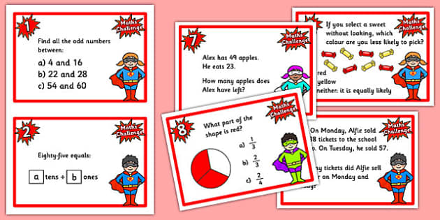 Year 3 Maths Challenge Cards Challenge Cards Cards Year 3