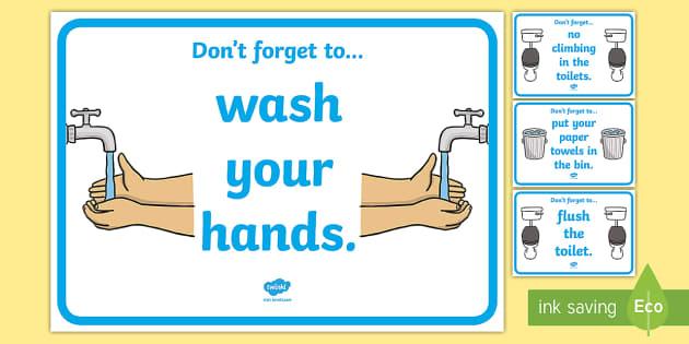 Good Behaviour Toilet Signs - Toilet Area Sign, Classroom Area