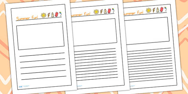 Summer Fun Handwriting Lines - summer, handwriting, writing