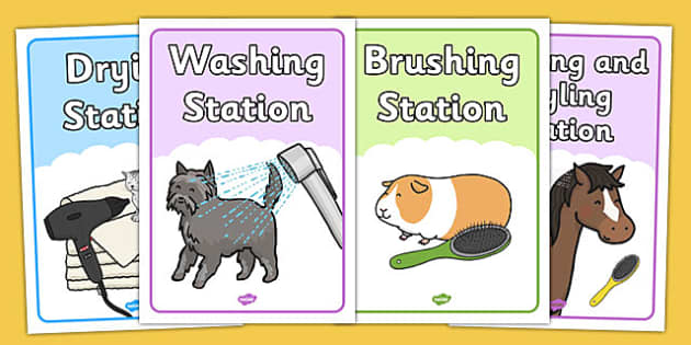 Pet Groomers Role Play Posters - pet, groomers, role-play, poster