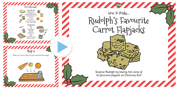Rudolphs Favourite Carrot Flapjacks Recipe PowerPoint - Food