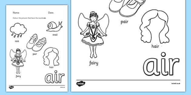 Phase 3 Trigraph Colouring Sheets air - phase 3, trigraph, colouring, sheets, air