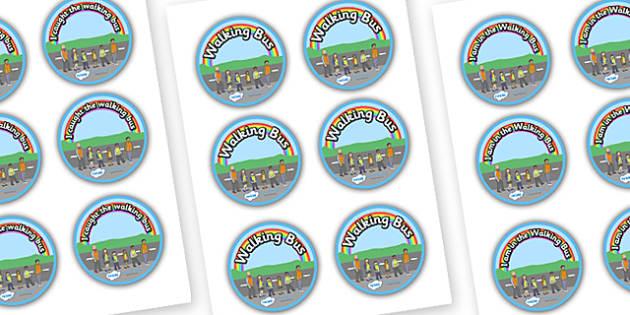 Road Safety Walking Bus Badges - road safety, road awareness, walking bus badges, badges, road safety badges