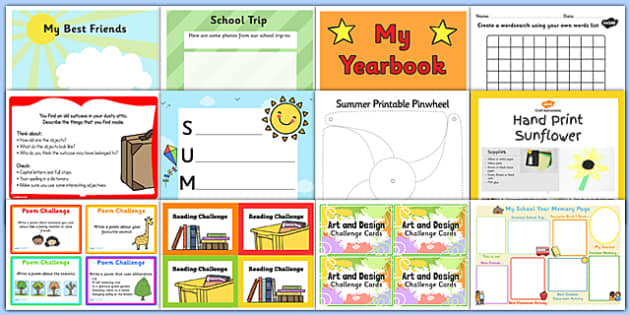 Calendar Ideas Key Stage : Ks summer end of year activity pack school resources