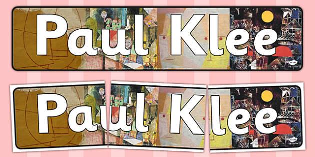 Paul Klee Display Banner - paul, klee, display banner, display