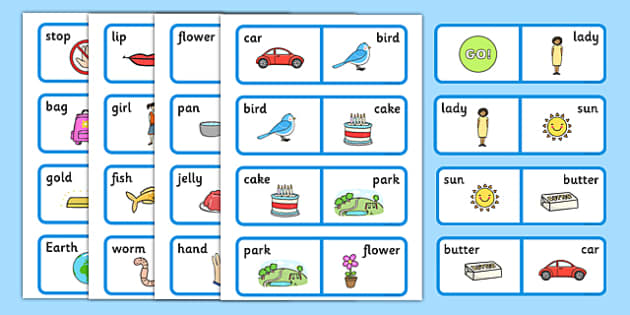 Compound Word Dominoes Game With Words Compound Word