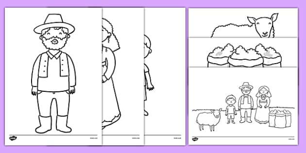 Baa baa black sheep colouring pages for Baa baa black sheep coloring page