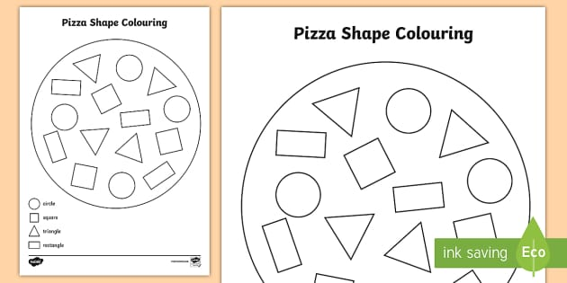 shape pizza colouring activity shape pizza colouring - Colouring Activity
