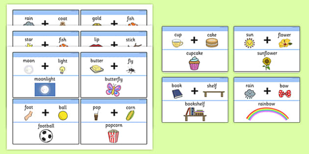 Compound Word Matching Game Compound Words Compound Word