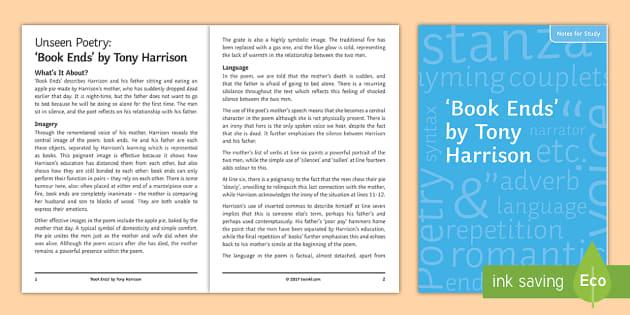 a good read by tony harrison Tony harrison v part 1 skip navigation sign in harrison v part 2 - duration: long distance i by tony harrison (read by tom o'bedlam.