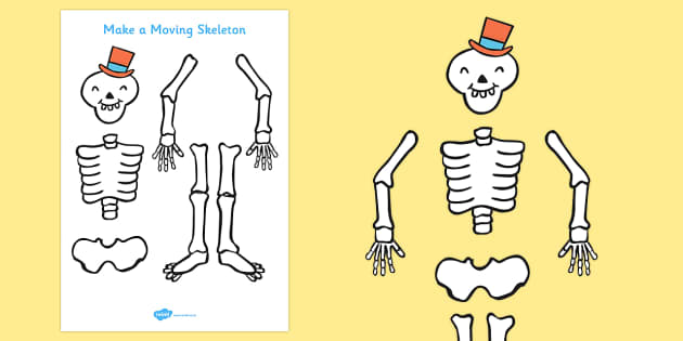 skeleton template to cut out - funny bones make a moving skeleton a4 funny bones
