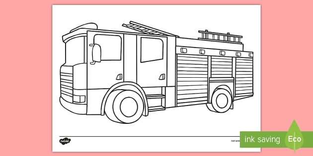 Fire Engine Colouring Page