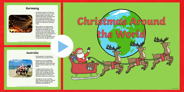 Christmas Around The World PowerPoint - christmas, christmas around the world, powerpoint, information powerpoint, discussion starter, class discussion