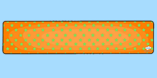 Orange with Green Stars Editable Display Banner - orange, green