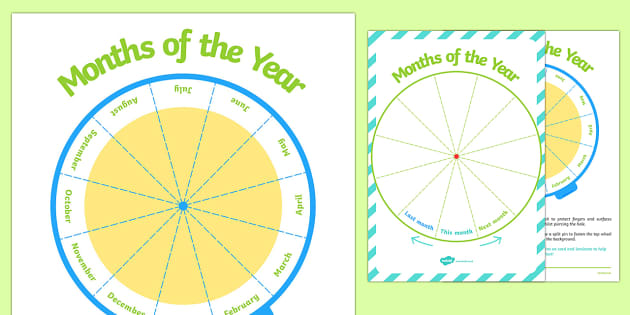 Months of the Year Sequencing Wheel Display Pack